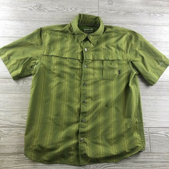 Merrell Other - MERRELL: Mens Opti-Wick Upf 50+ Button Up S/S